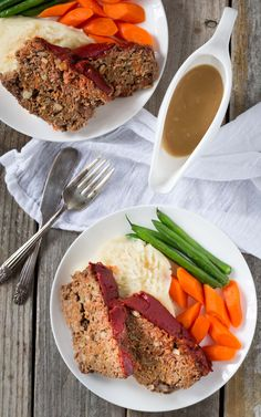 Perfect for a weeknight meal! This gluten free, Paleo and Whole 30 Meatloaf is packed with flavor and added vegetables! Make it with beef, pork or turkey