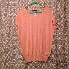 Peach top with lace back Size large Maurices Tops Blouses