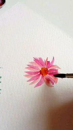 Watercolor Beginner, Watercolor Paintings For Beginners, Watercolor Art Lessons, Watercolor Projects, Watercolor Techniques, Watercolor Flowers Tutorial, Watercolour Tutorials, Floral Watercolor, Watercolor Illustration
