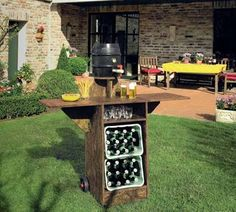 Bauplan: Gartenbar für die WM-Feier  Project plans: Build your own garden bar for the world cup celebrations.                                                                                                                                                     Mehr