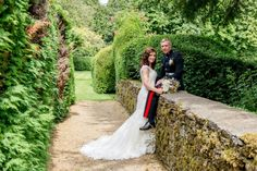Bride and Groom at the Hare and Hounds Hotel