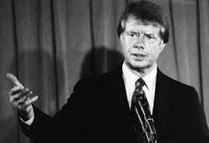 Jimmy Carter (born October 1, 1924) an American politician who served as the 39th US President from 1977 to 1981. In 2002, he was awarded the Nobel Peace Prize for his work with the Carter Center. Carter was a Democrat who was raised in rural Georgia.