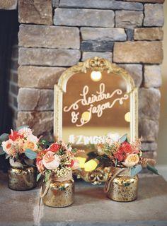 Mercury floral arrangements http://www.weddingchicks.com/2013/12/27/stately-southern-wedding/