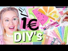 UNTER 1€ DIY's & HACKS für die Schule, Uni, Schreibtisch   ViktoriaSarina - YouTube