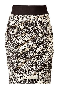STEFFEN SCHRAUT  Black and Cream Drape Skirt