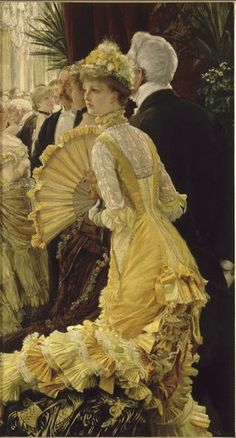 """Tissot, James  """"Evening""""  1885  Musée d'Orsay - Pinned to a really great Tissot board, lots of pictures"""