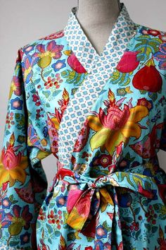 ORTUPES - Lily Kimono Robe  - Custom - Select your favorite fabric.. $79.00, via Etsy.