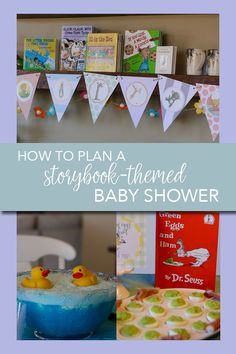 Aug 2019 - You will love the adorable ideas in this story-book themed baby shower. From the food to the decor to the invitations, you will find great ideas to incorporate a storybook party theme. Baby Shower Decorations For Boys, Baby Shower Themes, Baby Boy Shower, Baby Shower Gifts, Shower Ideas, Storybook Party, Storybook Baby Shower, Dr. Suess, Book Shower