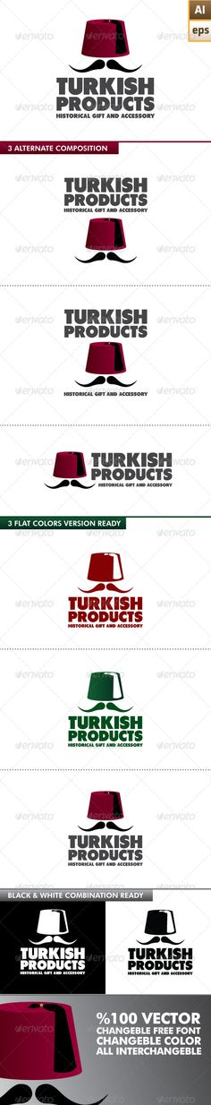 Turkish Products Logo  #GraphicRiver         EPS – Ai   100% vector   Easy to edit color and text  Free used font is download  .dafont /tondu.font Different 4 combination logo design  Different 5 colors version ready   Black and white version   Resizeble   Fonts links in the folder     Created: 11March13 GraphicsFilesIncluded: VectorEPS #AIIllustrator Layered: Yes MinimumAdobeCSVersion: CS Resolution: Resizable Tags: agency #authentic #brand #business #company #concept #corporate…