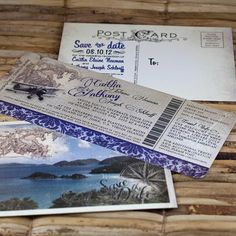 @Sarah Martin Boarding Pass Invitation or Save the Date by sproulliedesigns, $20.00