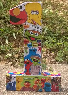 Sesame street birthday party decorations by LaurensPreciousGifts