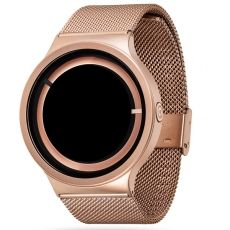 Ziiiro Metallic Rose Gold watch with a black dial without boring numbers. Dark, magical and irresistible different. Buying, wearing and no longer put off until the next solar eclipse! €199.00