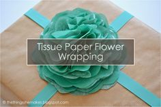 Tissue Paper Flower Wrapping