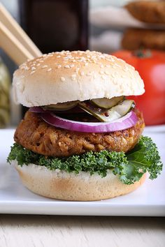 Olives for Dinner | Sweet Potato, Farro and Walnut Burger by Jeff and Erin's pics, via Flickr