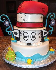 Dr. Seuss Birthday - I made this cake for my son's entire kindergarten class in honor of Dr. Seuss birthday.  I received wonderful ideas from Cake Central.  Thank you!
