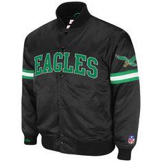 "Tempting. ""Philadelphia Eagles Throwback Satin Jacket"""