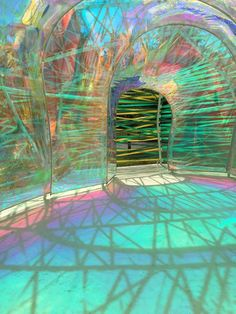 Fairweather Trading Travels - Morning in London. Neon Aesthetic, World Of Color, Light Art, Installation Art, Pavilion, Oeuvre D'art, Sculpture Art, Les Oeuvres, Glass Art