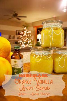 Living Savvy: Last Minute Homemade Gift | Orange Vanilla Body Scrub