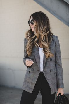 a7b368b76948 17 Best Checked blazer | Fashion Inspiration images | Fall winter ...