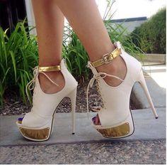 New Fashion Contrast Colour Suede Platform Sandals