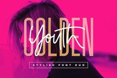 Introducing the Golden Youth Font Duo; A stylish & modern harmony of sans & script typefaces. With a tall condensed sans-serif font and a free-flowing script companion, Golden Youth offers Script Typeface, Sans Serif Fonts, Design Typography, Typography Fonts, Hand Lettering, Photoshop, Condensed Font, Texture Web, Creative Advertising