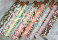 Easter Chocolate dipped Pretzel Rods | Pretzel rods dipped i… | Flickr