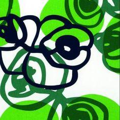 Frösö handtryck - tyg: fetknopp, Anna Viktorsson green pattern