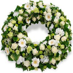 Fleurs deuil - Couronne a plat Souvenir