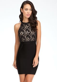 bebe | Lace Open Back Dress - View All