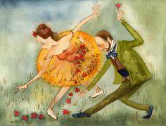 Dancing Illustration by Vila Kirdiy