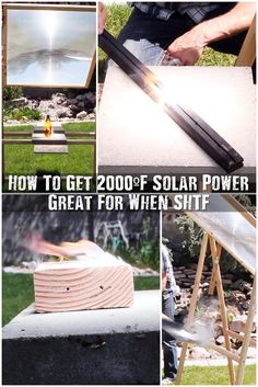 How To Get 2000ºF Solar Power: Great For When SHTF - You can build a very powerful system using parts that you can find in any trash dump, and you may even have the parts in your neighborhood. Either way, this project can be done very inexpensively and isn't all that difficult to do.