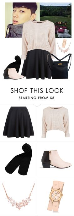 """""""AOMG // aesthetic : first date"""" by hitthisfeeling ❤ liked on Polyvore featuring Monki, Nine to Five, Michele and Hermès"""