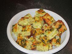 Quadrotti di frittata alle verdure - Morsels of omelette with vegetables