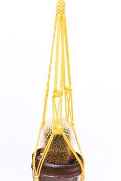 Indoor  Outdoor  Flower Pot Holder  Yellow by DanceOfTheSoul