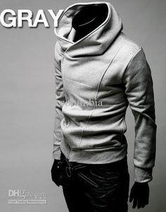 955424fe5baf HOT Brand New Diagonal Zipper Men S Hoodies   Sweatshirts Jacket Coat Size  M