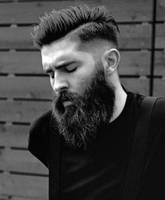 Short Haircuts For Men With Beards #shorthairstylesforthickhair