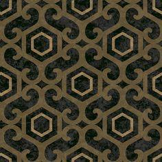 San Remo Amber Black wallpaper by Arthouse