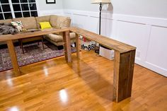 DIY Behind-the-Sofa Table                                                                                                                                                                                 More