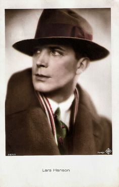 Lars Hanson | British postcard by Ross Verlag, no. 3971/1, 1928-1929. Photo: Ufa. Lars Hanson (1886-1965) was a highly successful Swedish film and stage actor mostly remembered for his motion picture roles during the silent film era, both in Scandinavia and Hollywood. For more postcards, a bio and clips check out our blog European Film Star Postcards Already over 3 million views! Or follow us at Tumblr or Pinterest.