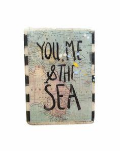 Ahoy Trader Mini Plaque - You Me and the Sea Boyfriend Names, You And I, Ceramics, Sea, My Love, Crosses, Mini, Gifts, Future