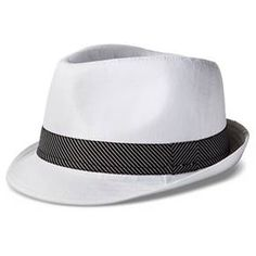 049758cfdd5 Men s Herringbone Fedora - White Black   Target Hats For Men