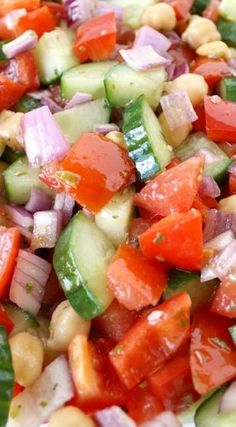 Ultimate Greek Chopped Salad with an Easy Red Wine Vinegar-Oregano Dressing