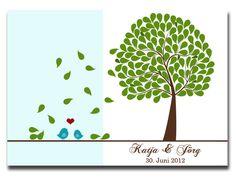 Hochzeitsgästebuch - Wedding Tree - ein Designerstück von CindyScholzFotografie bei DaWanda