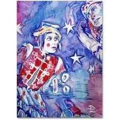 Trademark Fine Art Clown Stars Canvas Art by Lowell S.V. Devin, Size: 18 x 24, Multicolor