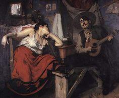 O Fado | The Fado    A painting from 1910, by José Malhoa. This Portuguese artist was born in 1855, in Caldas da Rainha.