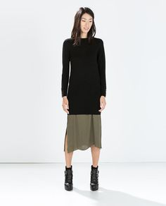 DRESS WITH HOOK-AND-EYE CUFFS from Zara