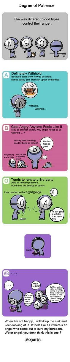 DonnaDaritan.com: Different Blood Types Comic