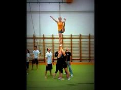 I'm not an expert on the subject but I think that the ground team should move close together, rather than move apart. Cheer Stunts, Cheerleading, Daily Video, Girl Gifs, Fails, Encouragement, Humor, Sayings, Videos