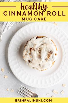 Get ready to taste the best cinnamon roll mug cake ever!! This is a healthy alternative to those food court versions that are thousands of calories. No added sugar and the cream cheese icing is to die for!