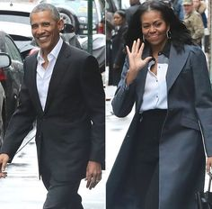 #President #BarackObama and Wife #MichelleObama were out and about in #NewYorkCity on Friday March 10, 2017 afternoon, meeting up with one of their famous friends for a midday meal. The former #firstcouple were spotted heading into Uplands at around 1pm, where they joined U2 frontman #Bono for some California-inspired cuisine at the Park Avenue brasserie. #TheObamas #Obama #ObamaGirls #ObamaFoundation